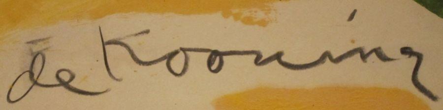 De Kooning Slipping Glimpser Signature