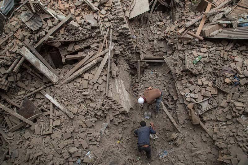 Destruction in Nepal