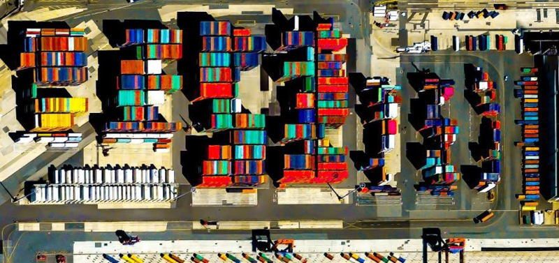 Geometric Earth Cargo Containers