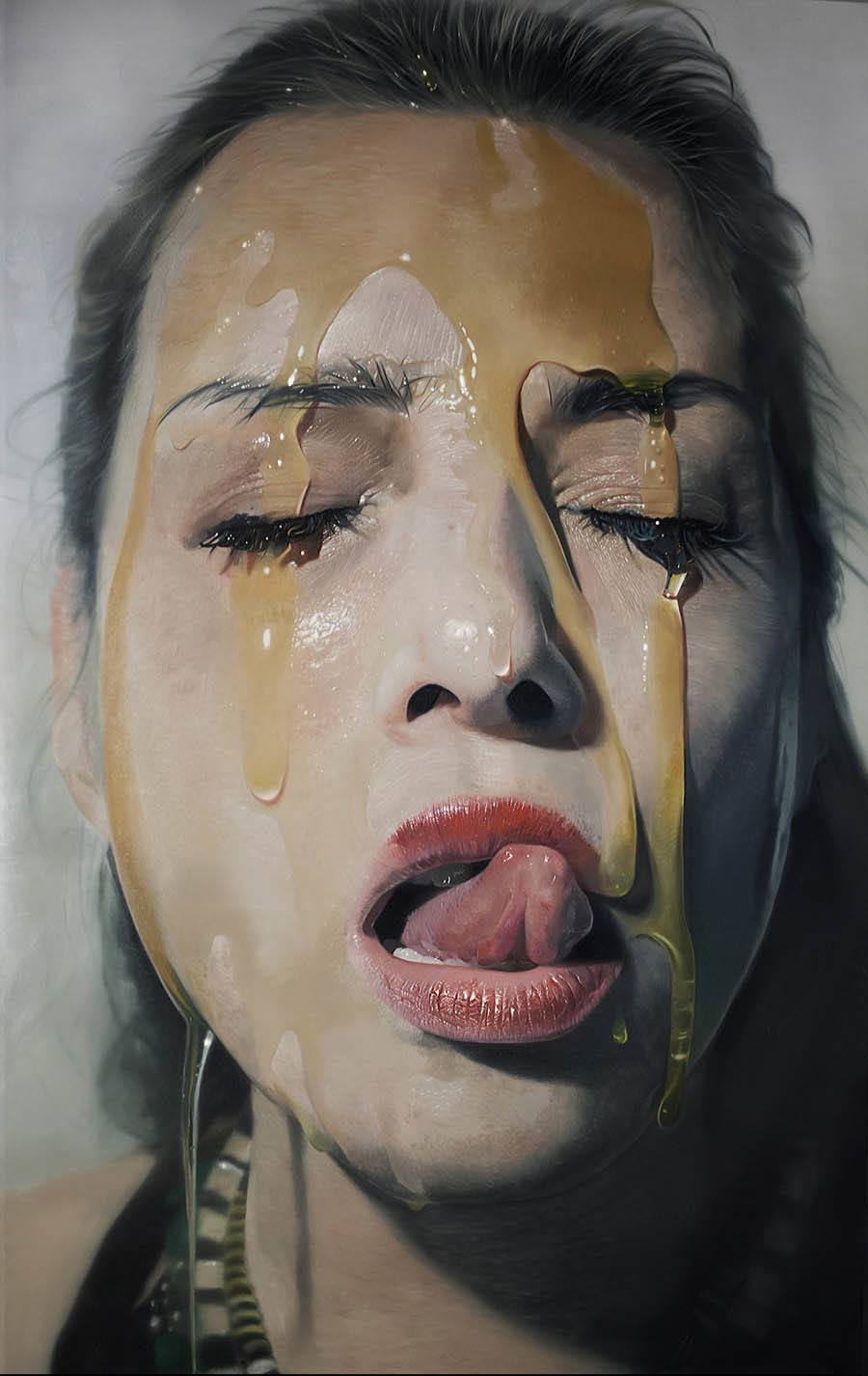 hyper realistic ecstasy of gold