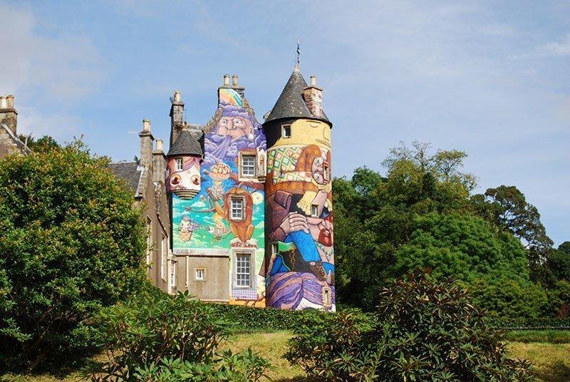 Kelburn Castle Mural from Afar