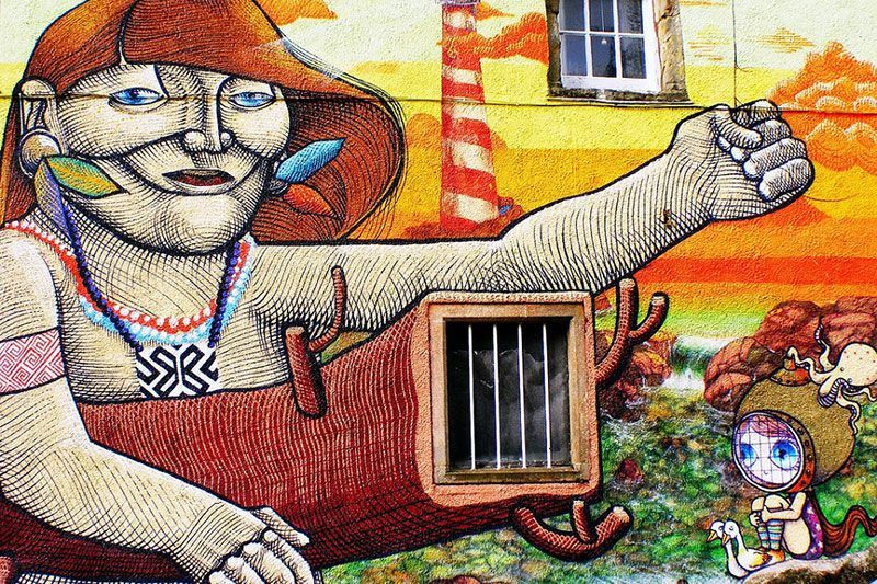 Kelburn Castle Vibrant Mural