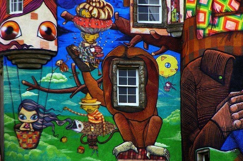 Up Close Look at Kelburn Street Art