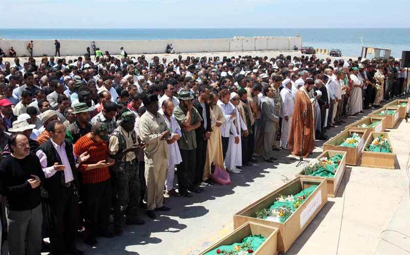 Libyans mourn airstrike dead