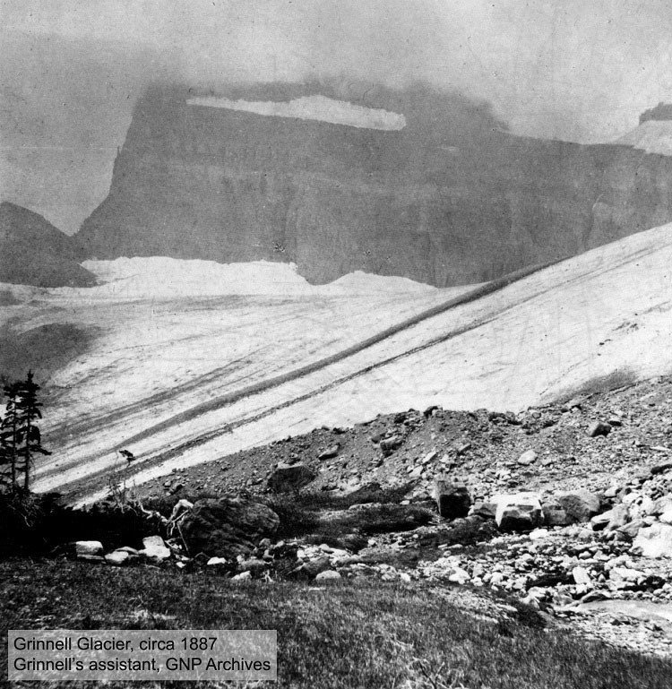 Melting Glaciers Grinnell 1887