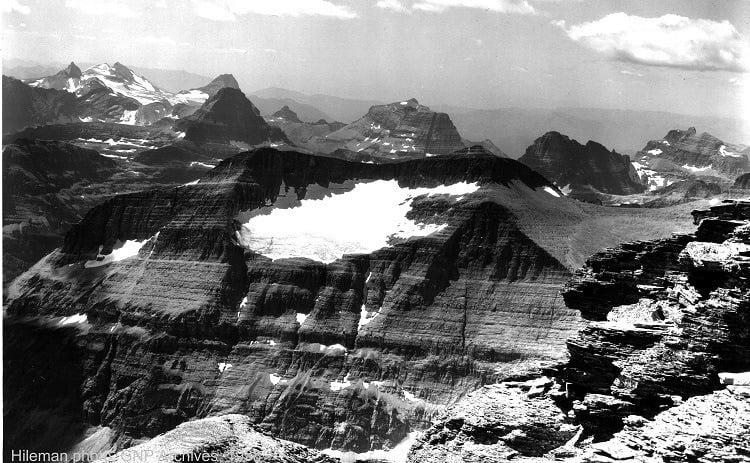 Melting Glaciers Piegan 1938