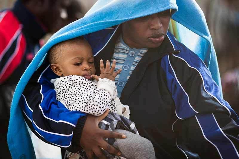 Migrant child on rescue ship