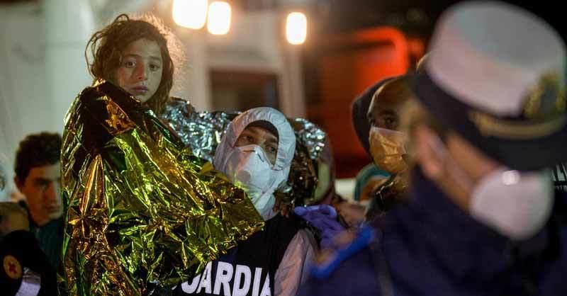 Italian coast guard rescues young girl