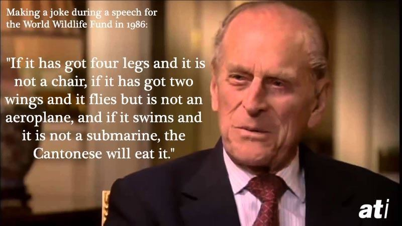 Prince Philip Quotes Cantonese