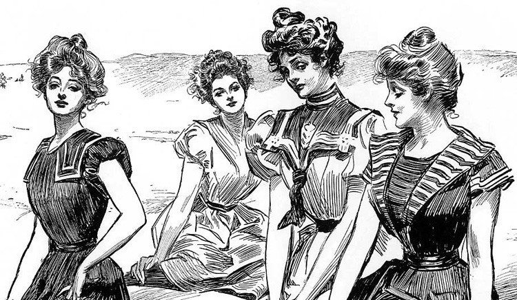pin-up history gibson girls