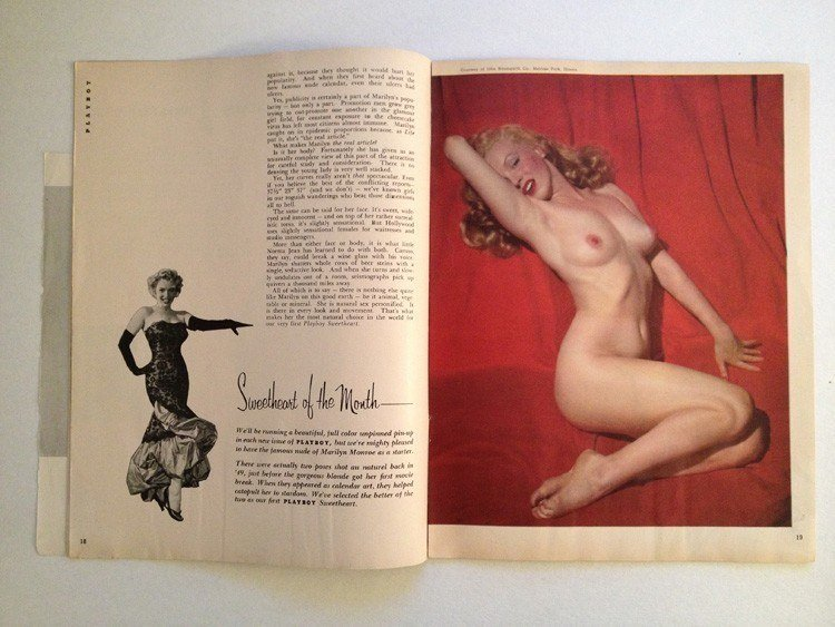 pinup history playboy marilyn monroe