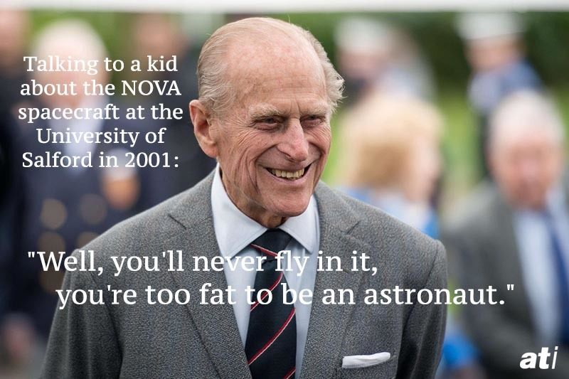 Prince Philip Quotes Astronaut