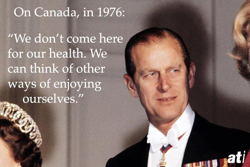 Prince Philip On Canada