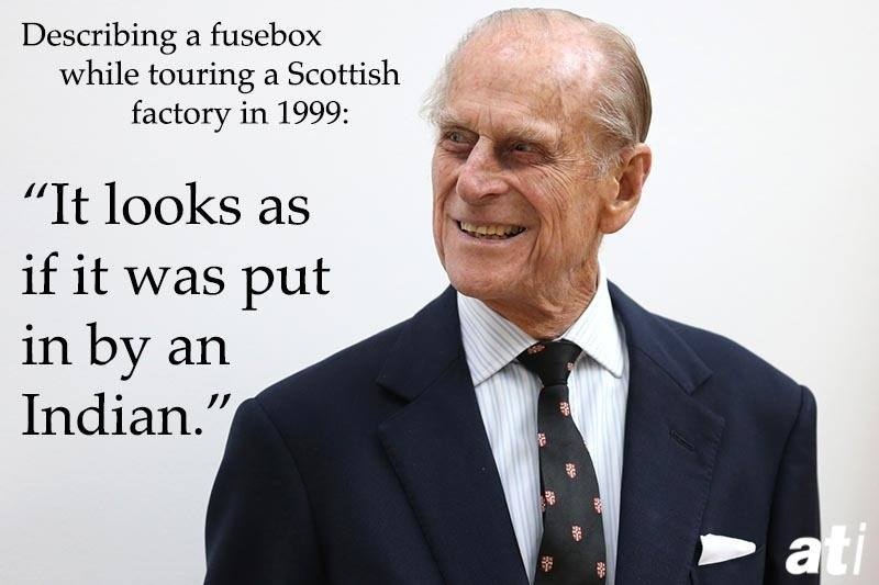 Prince Philip On Indians