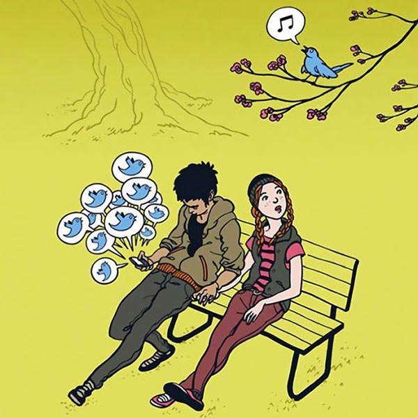 Smartphones Cartoons Tweets