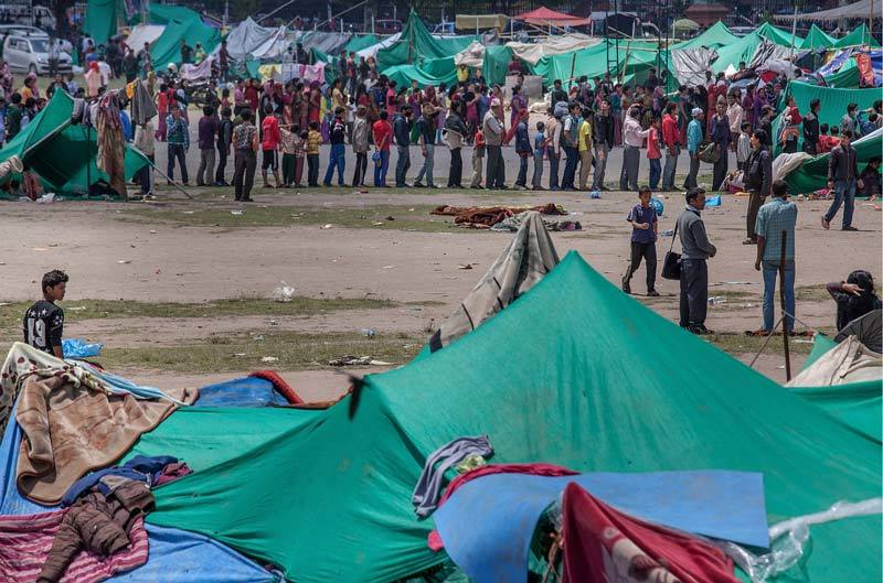 Tent city in Nepal