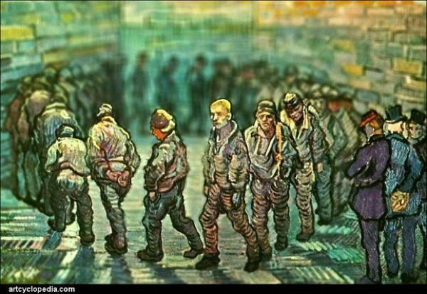 Van Gogh Tributes Men Circle