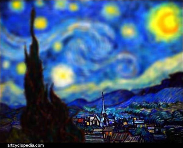 Van Gogh Tributes Starry Church