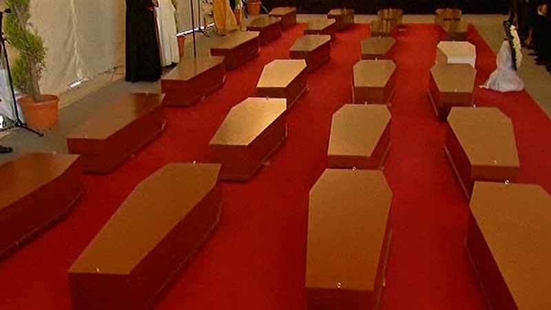 Video capture showing memorial for dead migrants