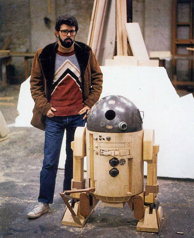 George Lucas With R2D2