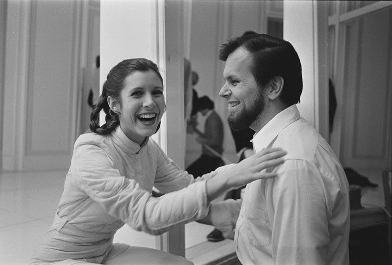 Carrie Fisher Behind the Scenes Of Star Wars