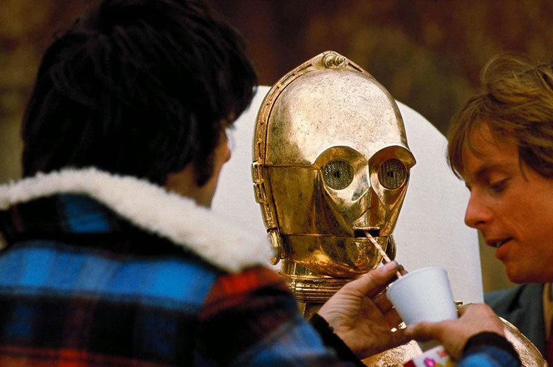 C3P0 Behind the Scenes Pictures
