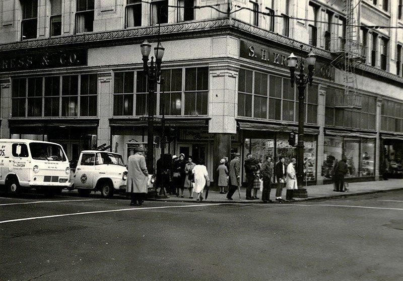 1966 Portland, Oregon Street Corner