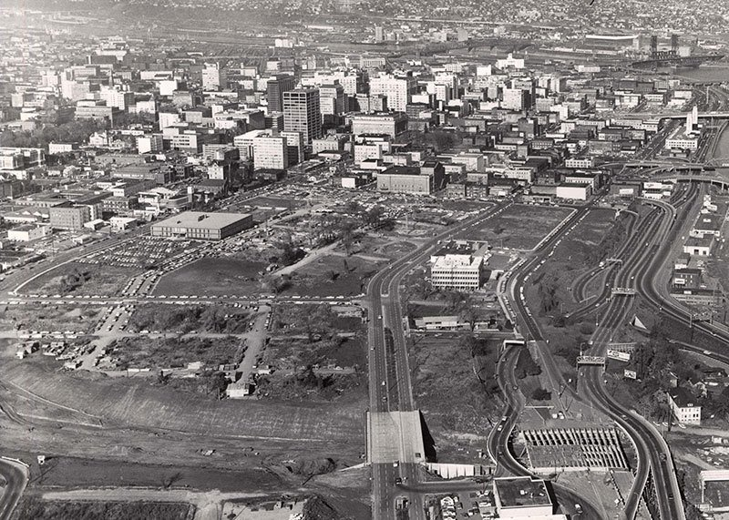 Aerial View of Portland in 1964