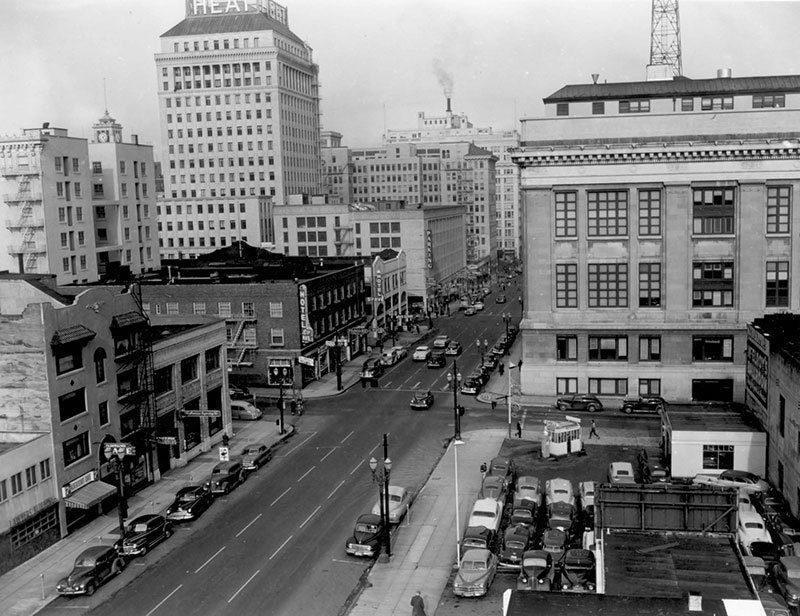 Aerial View of Vintage Portland