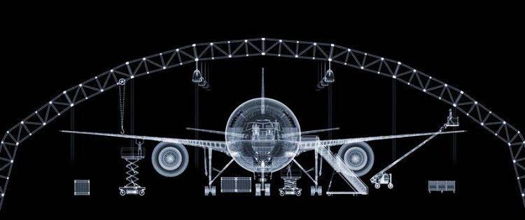 X-ray Art Boeing