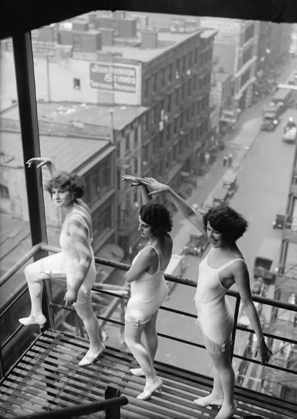 Ziegfeld Follies Girls Outside