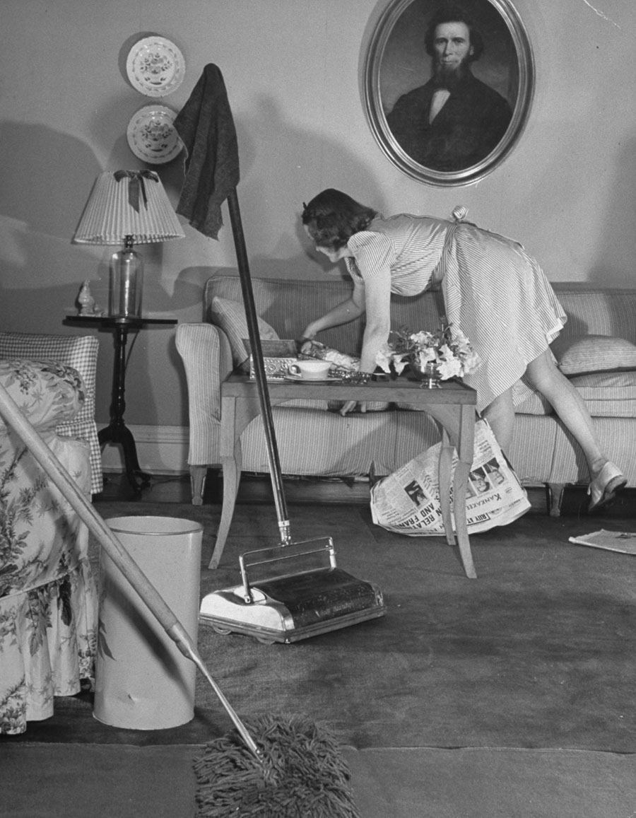 american mother 1941 couch cleaning