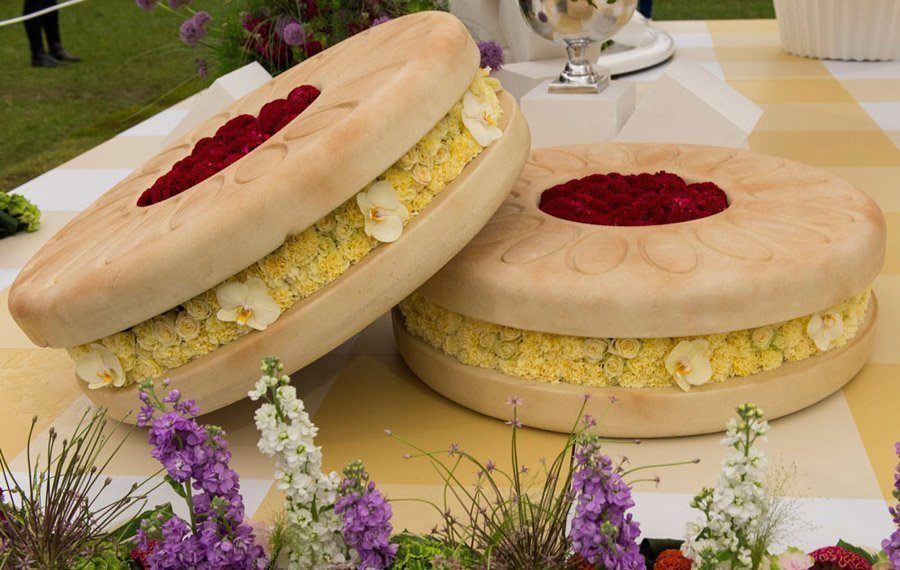 chelsea flower show biscuits