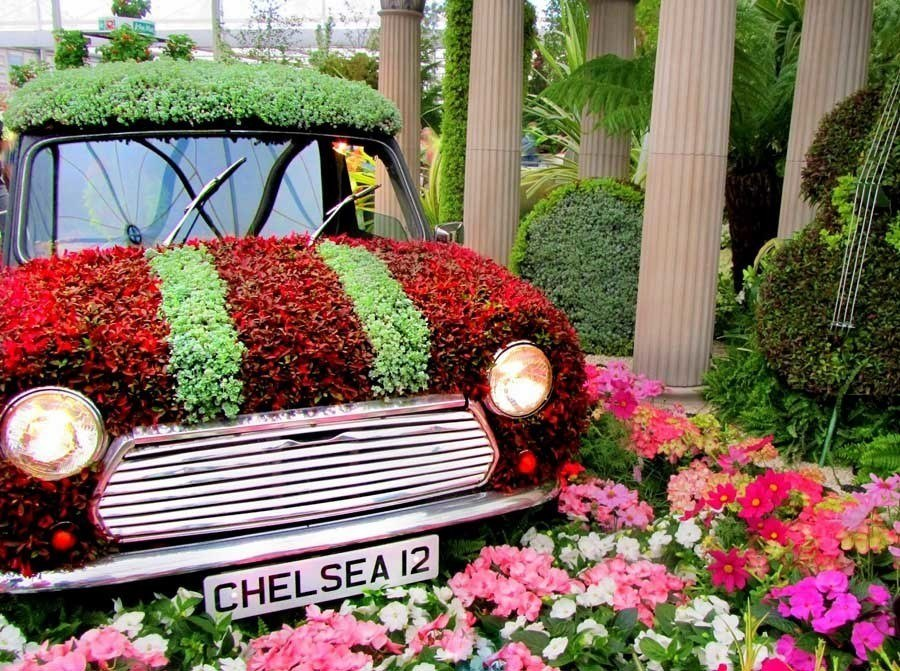 chelsea flower show car