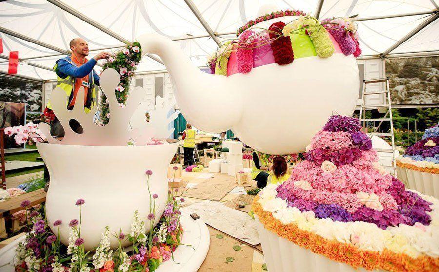 chelsea flower show teapot