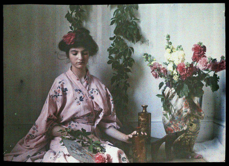 etheldreda laing autochrome janet kimono
