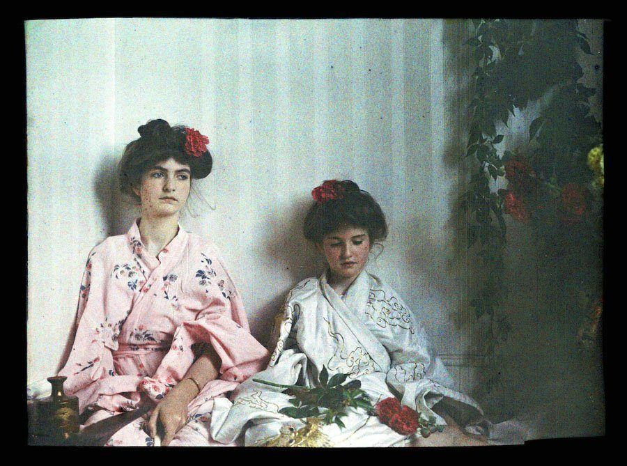 etheldreda laing autochrome geisha girls