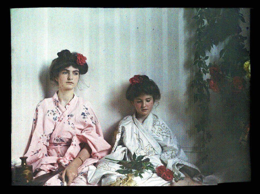 etheldreda laing autochrome geisha girls