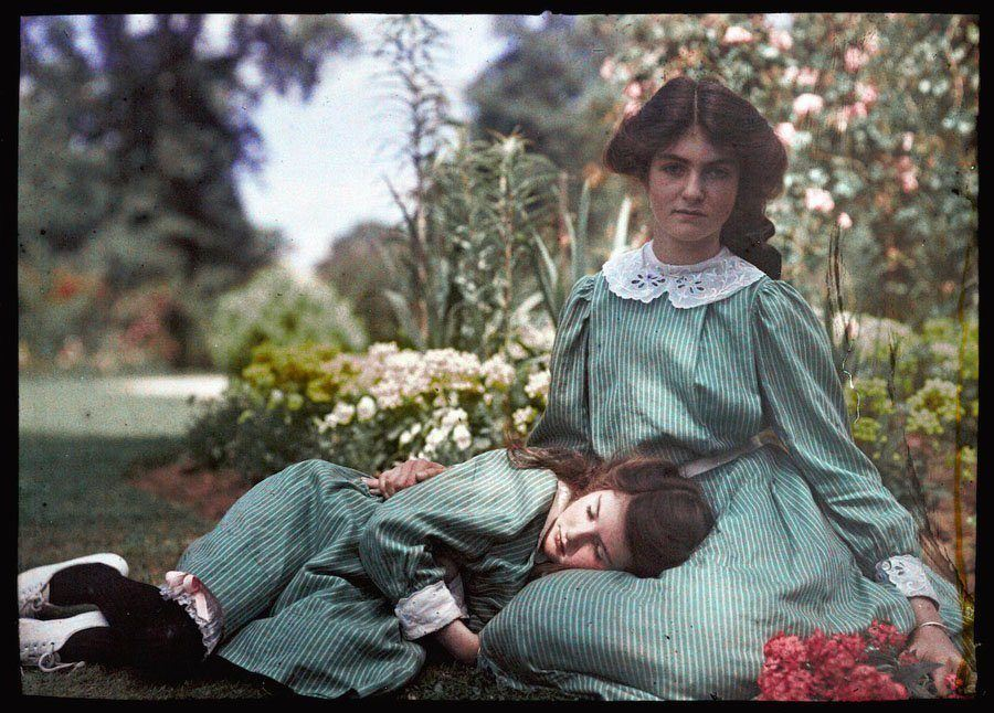 etheldreda laing autochrome napping