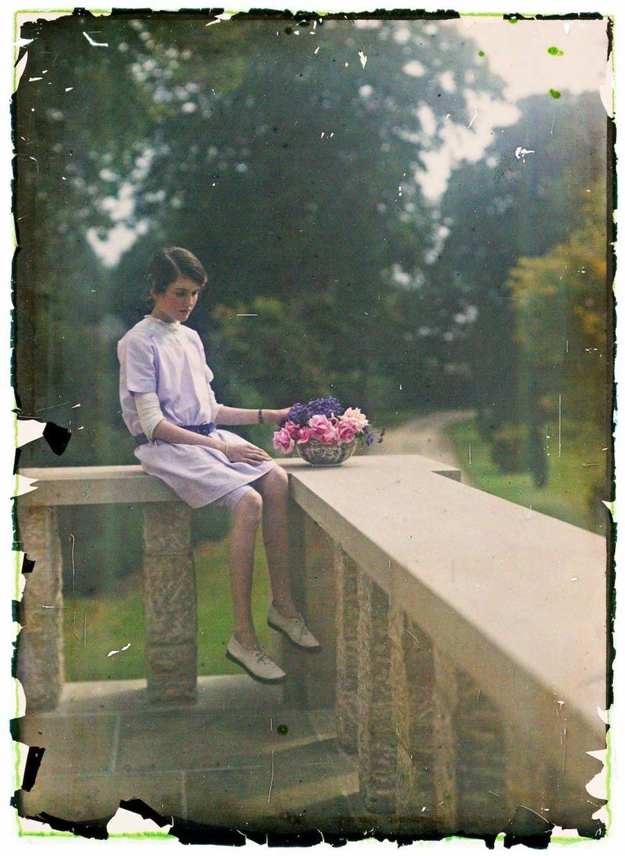 etheldreda laing autochrome stone porch