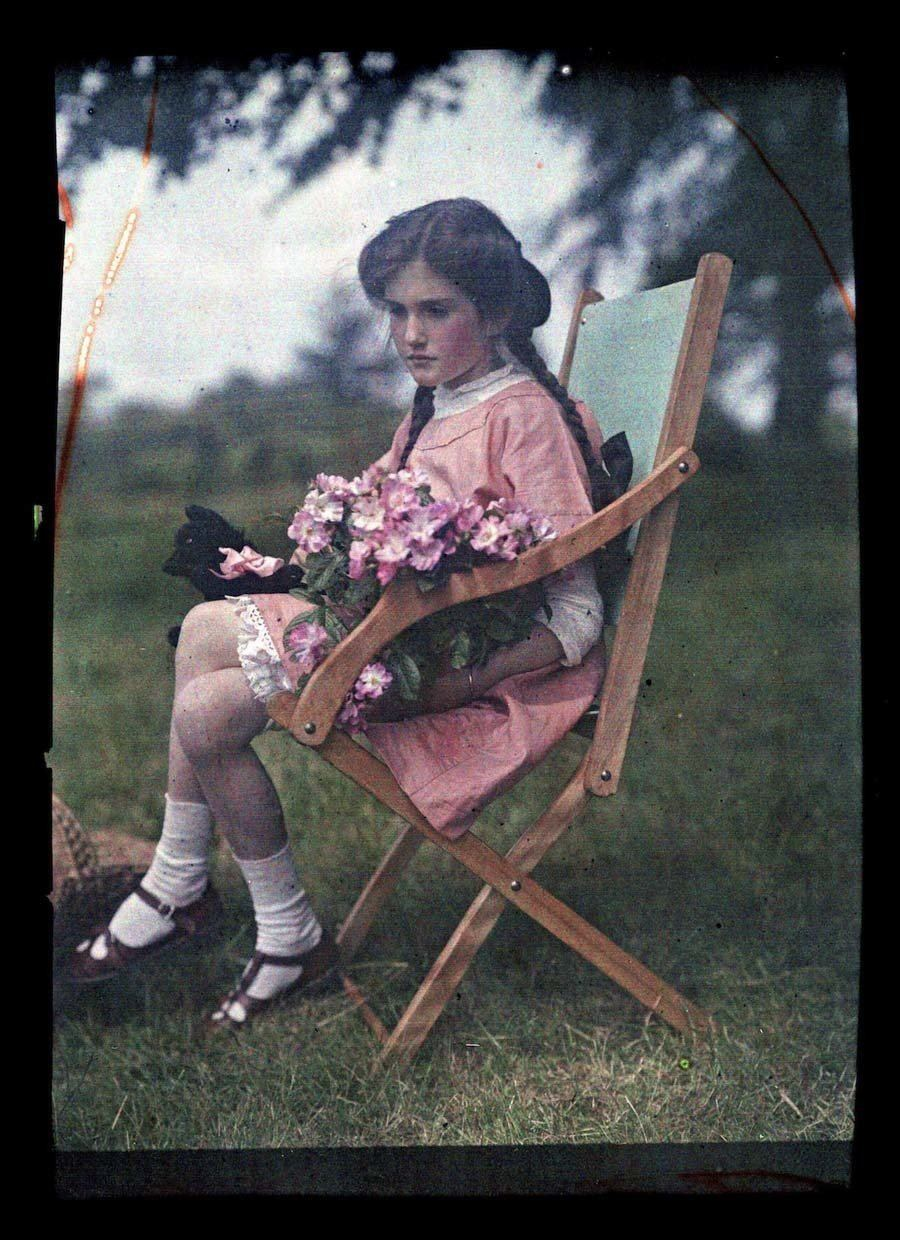 etheldreda laing autochrome wooden chair