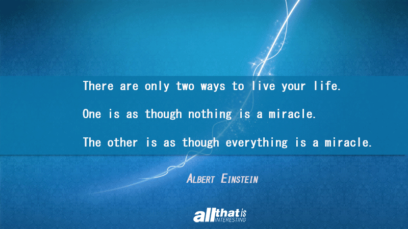 Albert Einstein On Miracles
