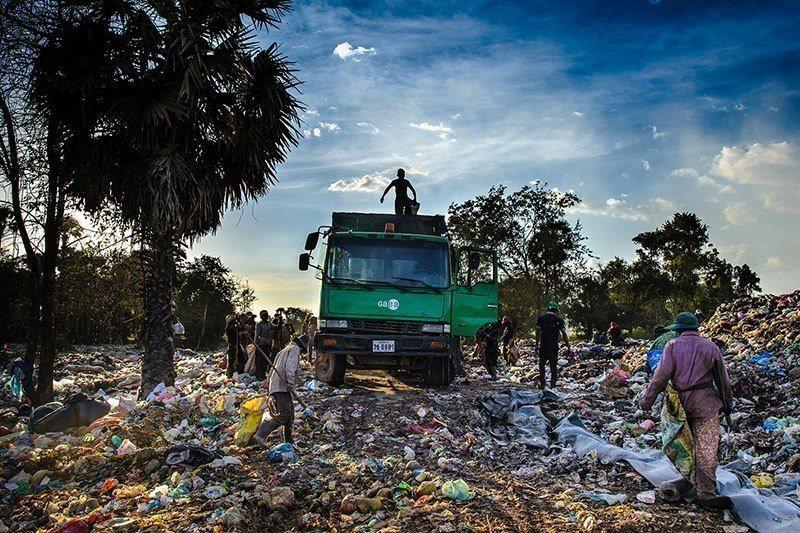 Dump Truck at Anlong Pi Dump Site