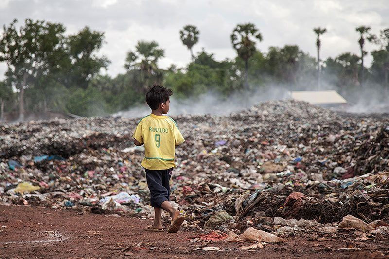 Cambodia Kids Work at Dump