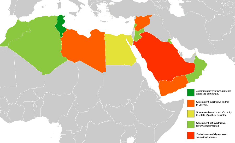 Arab Spring 5 Years Later