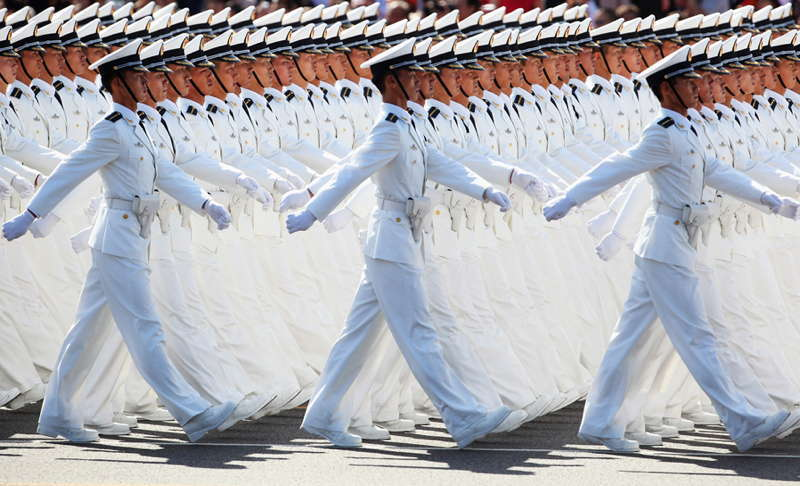 China Symmetry Walking Soldiers
