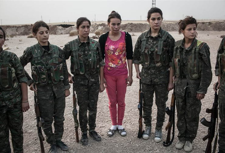 Female ISIS Fighters Pink Recruit