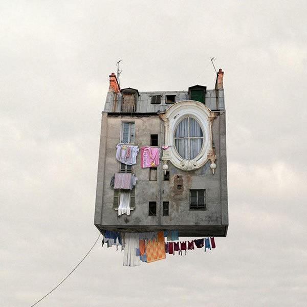French Photographer Makes Houses Fly