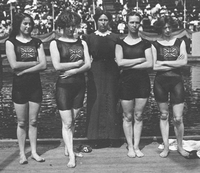 British Swim Team In 1912