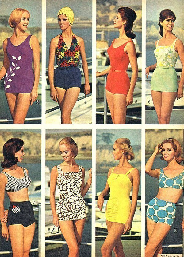 1960s Swimwear Fashion